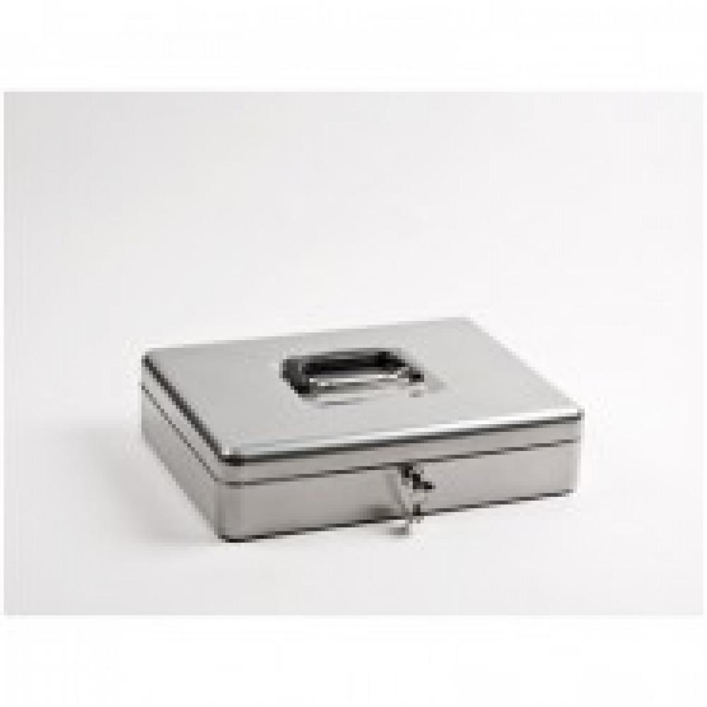 Метал.Мебель Office-Force Т01 Кешбокс10001,ключ,сереб370х280х90