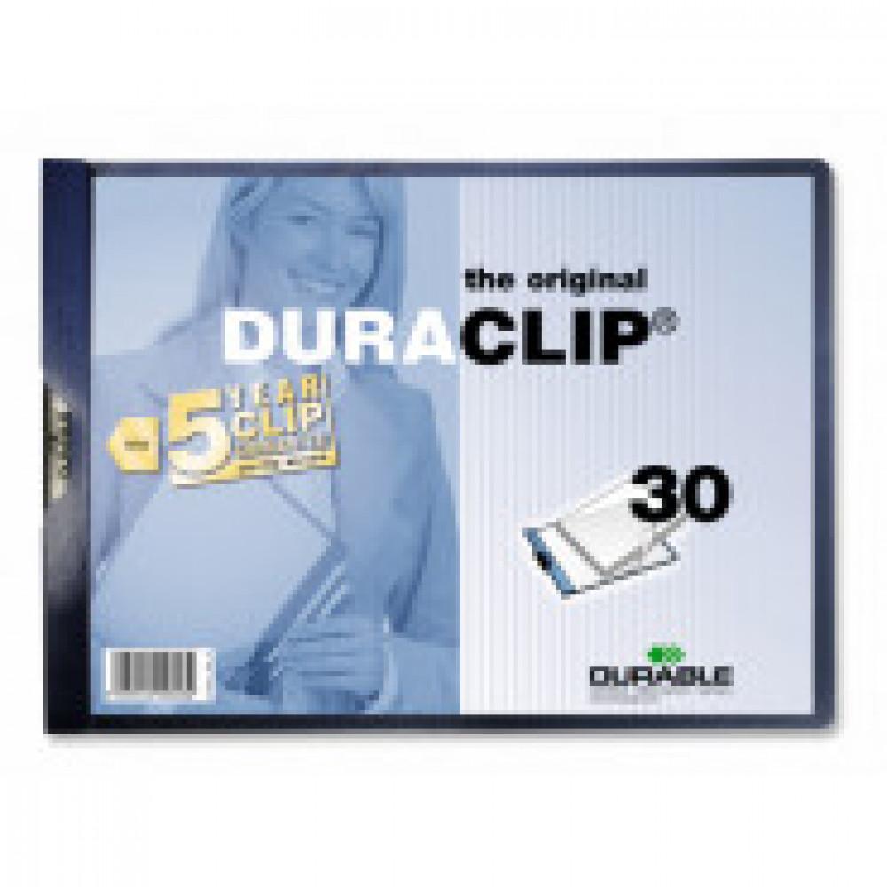 Папка с клипом Durable 2246-06/07, гориз. А4 30 листов, синя