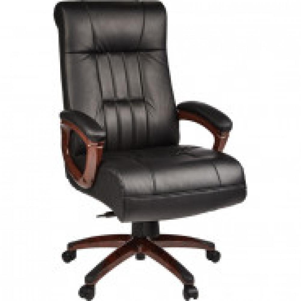 Кресло BN_Dp_Руководителя EChair-635 ML кожа черная