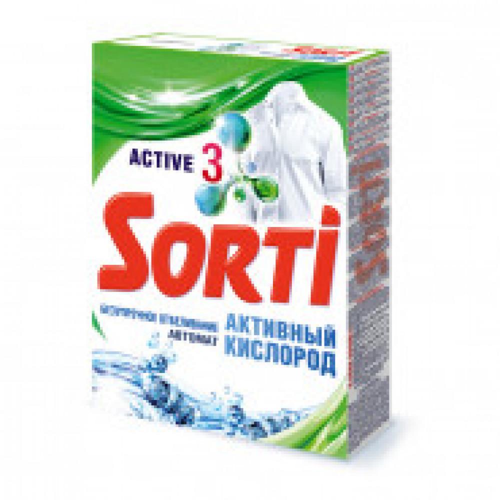 Порошок стиральный Sorti автомат Активный кислород для белого белья 350г