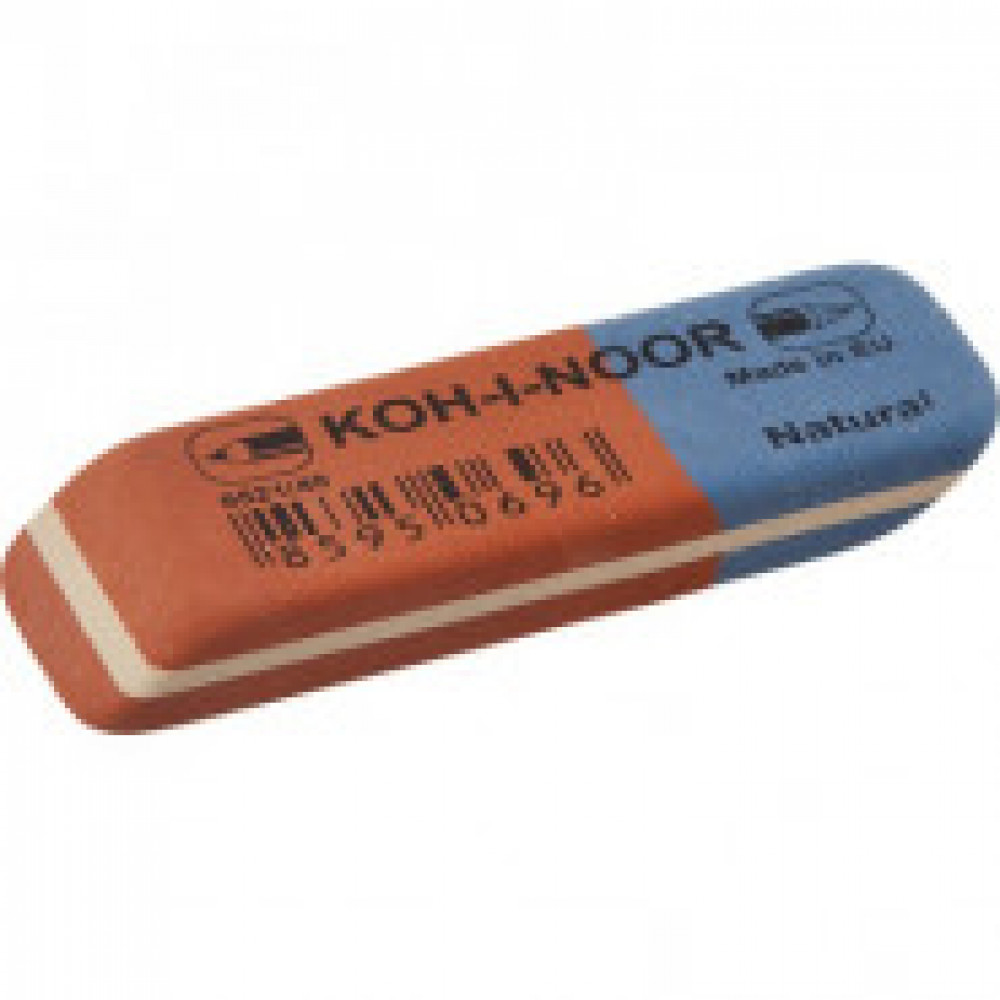 Ластик KOH-I-NOOR 6521/40 каучуковый, комбинир. Чехия