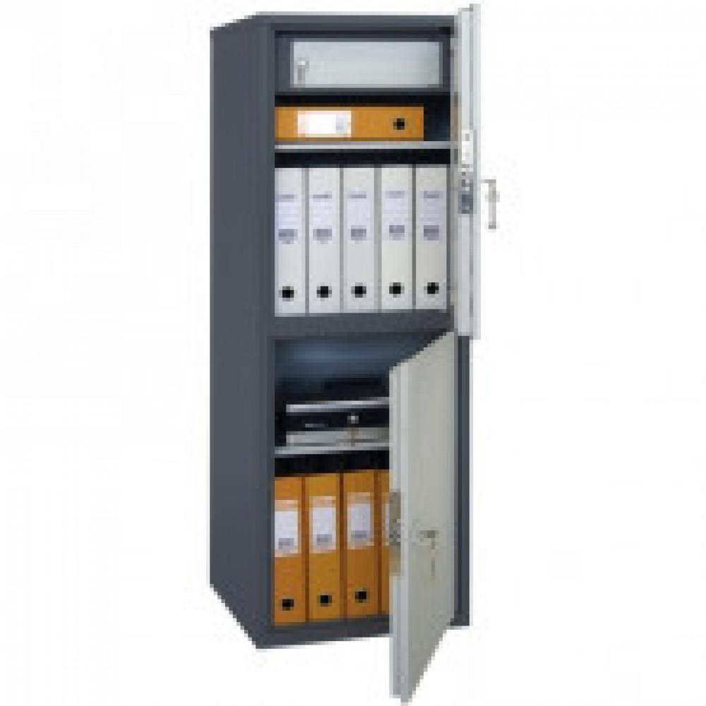 Метал.Мебель AIKO SL-125/2T шкаф д/бумаг 2 отд., 460х340х1252
