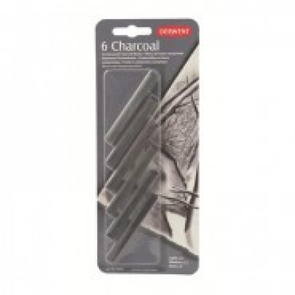 Уголь Derwent Charcoal древесный пресс. 6шт блистер D-35996