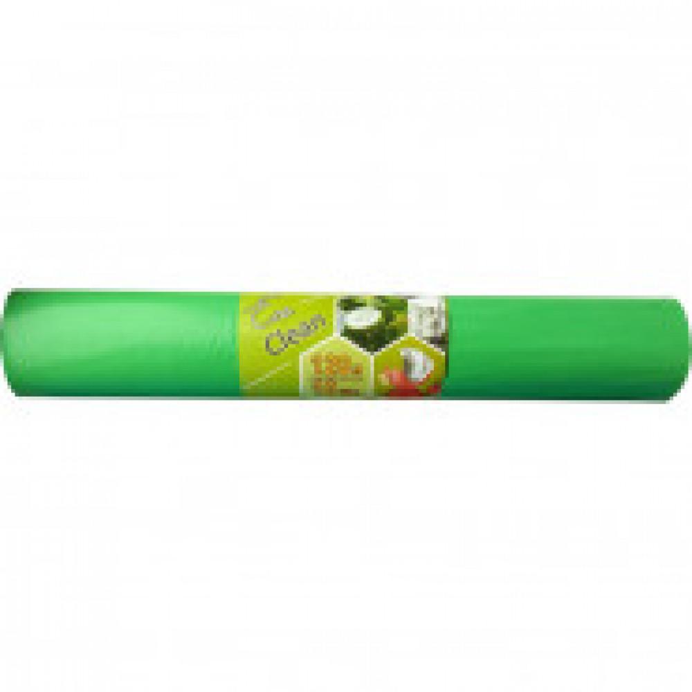 Мешки для мусора на 120 литров зеленые (40 мкм, в рулоне 10 штук, 70х108 см)