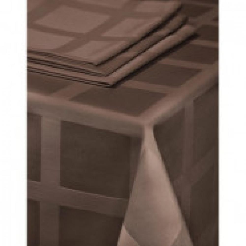 Скатерть Журавинка Рис1 145х180 коричневый ГОМ.