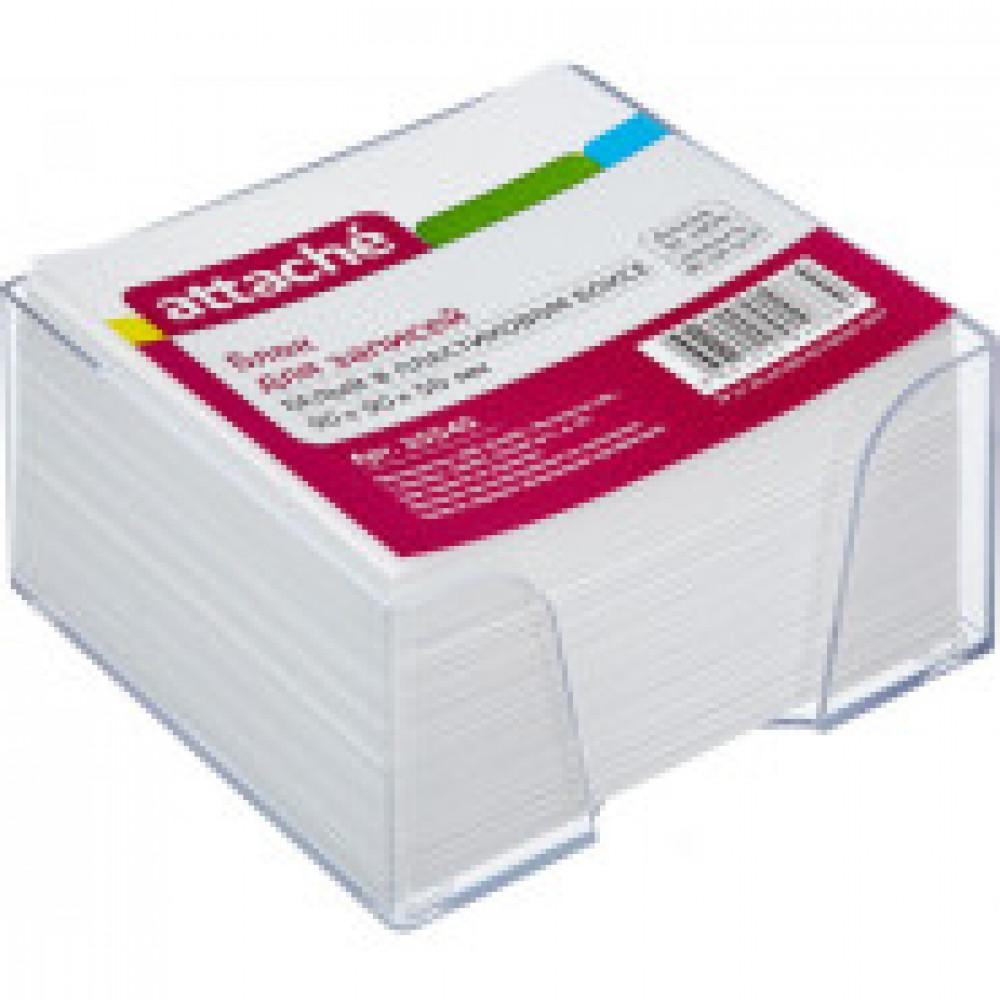Блок-кубик ATTACHE в стакане 9х9х5 белый блок 80 г, 92%
