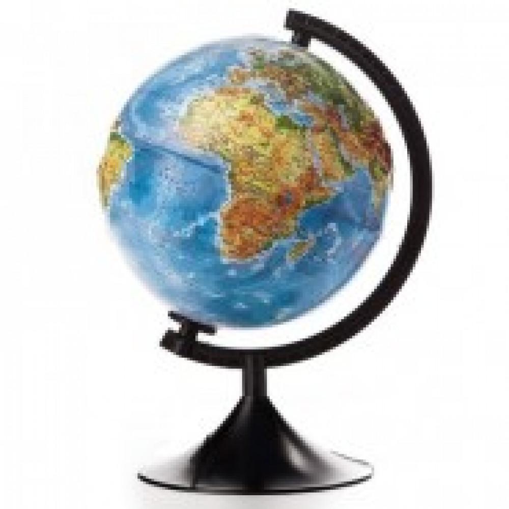 Глобус физический рельефный,210 мм