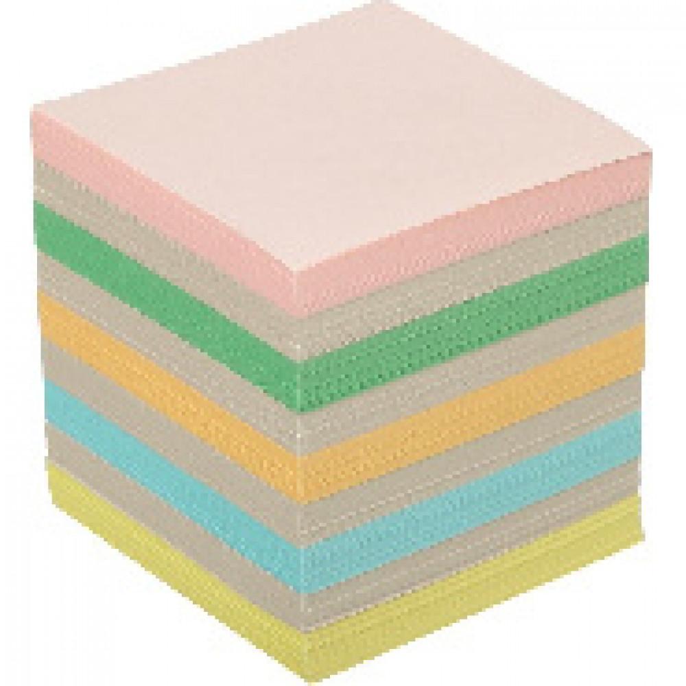Блок для записей ATTACHE ЭКОНОМ запасной 9х9х9 цветной Т