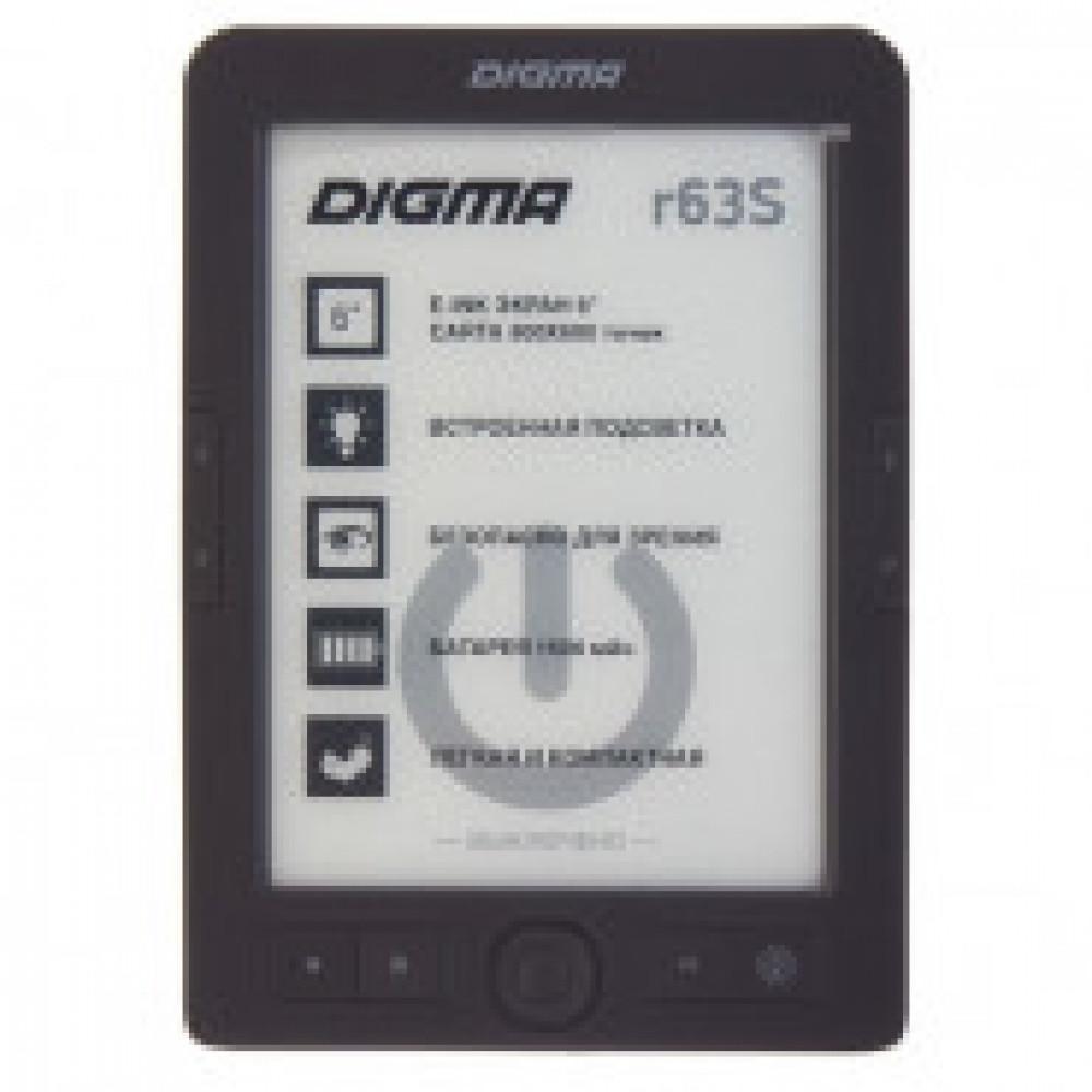 Книга электронная Digma R63S, темно-серый