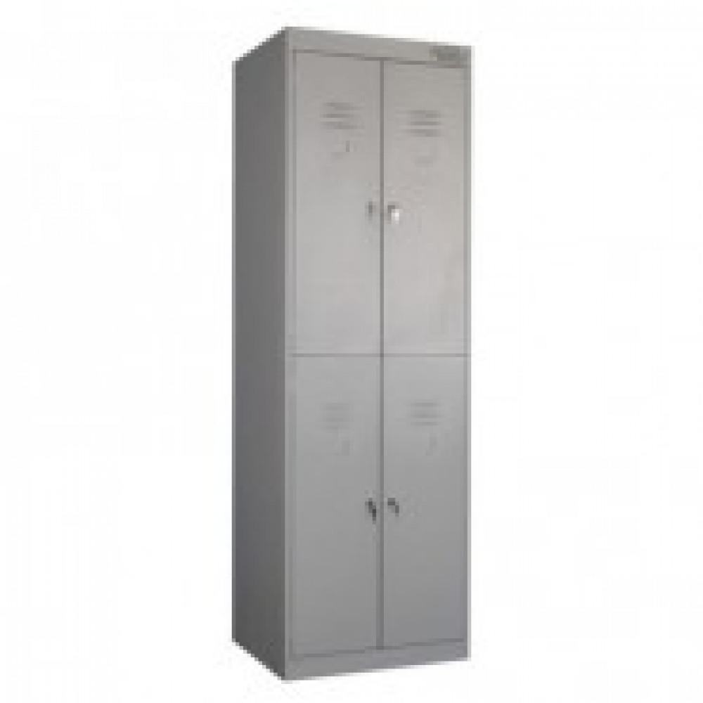 Метал.Мебель MZ_ШРК-24-600 шкаф д/одежды 2 секции,4 ячейки 600х500х