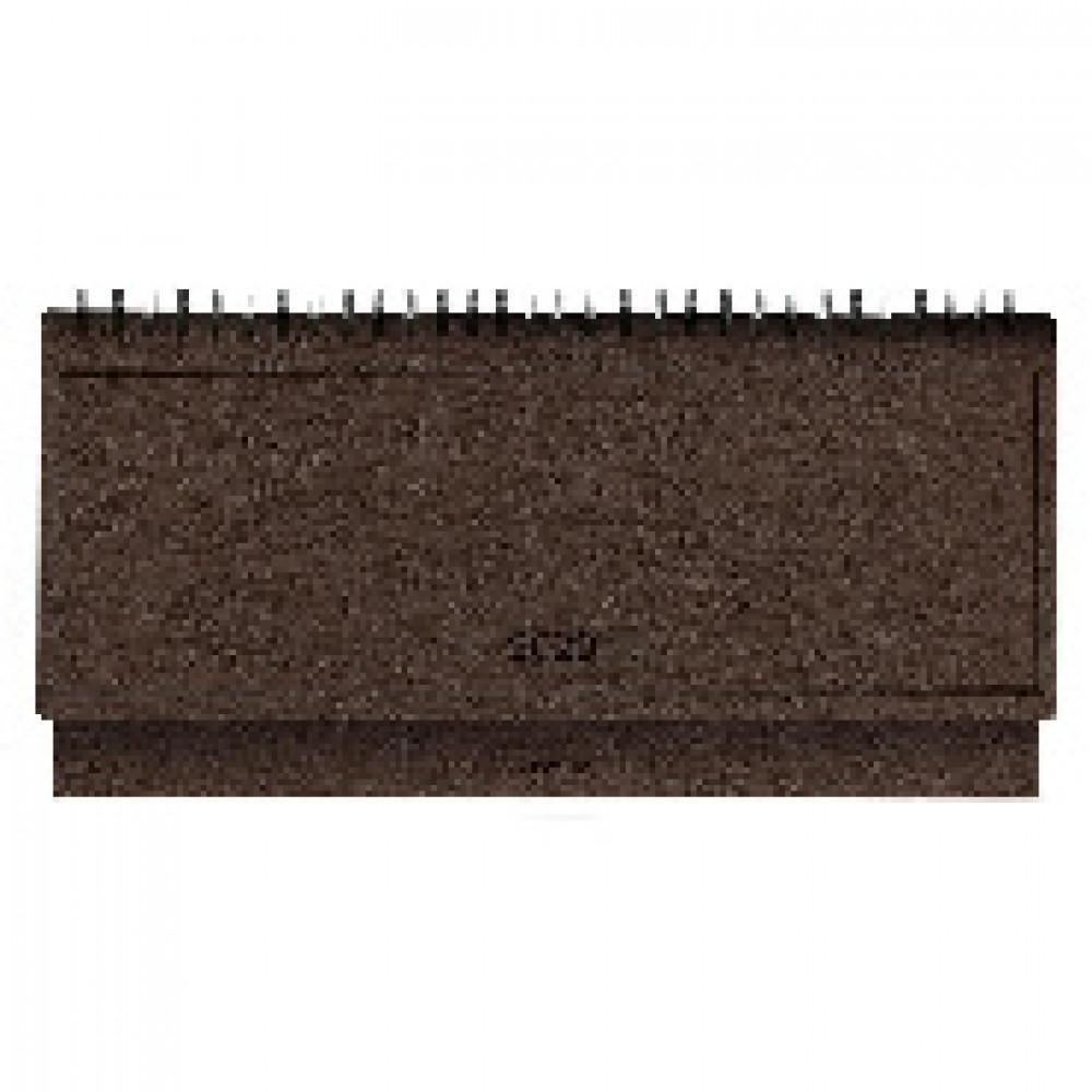 Планинг датированный 2020, темн-корич, 14х29,2см, 64л., Wood AZ870/d-brown