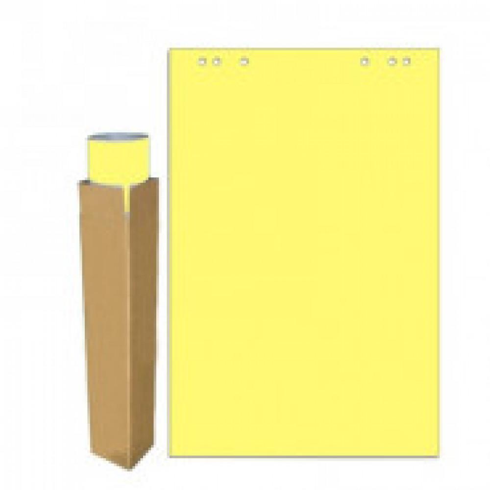 Бумага для флипчартов желтая пастель 68.0х98.0 20 лист.80гр.