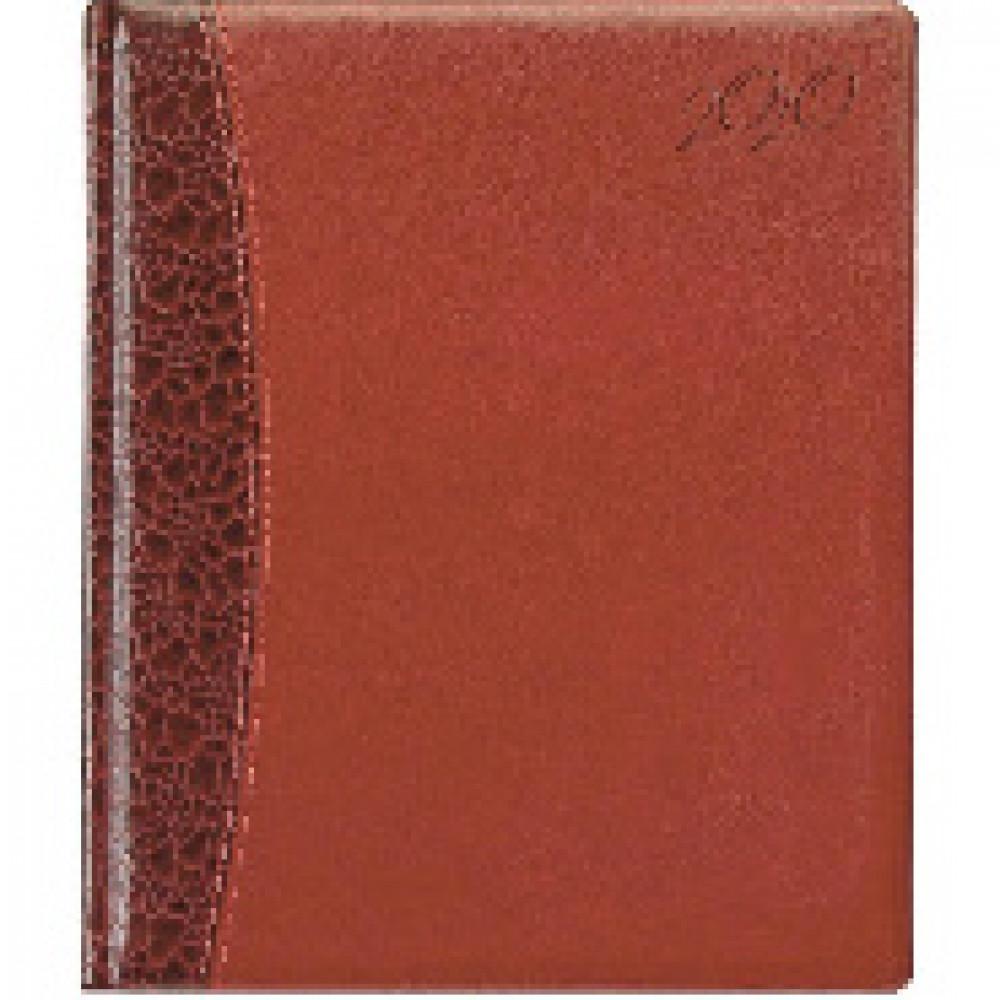 Еженедельник датированный 2020,комби,бордо,А4,215х265мм,80л