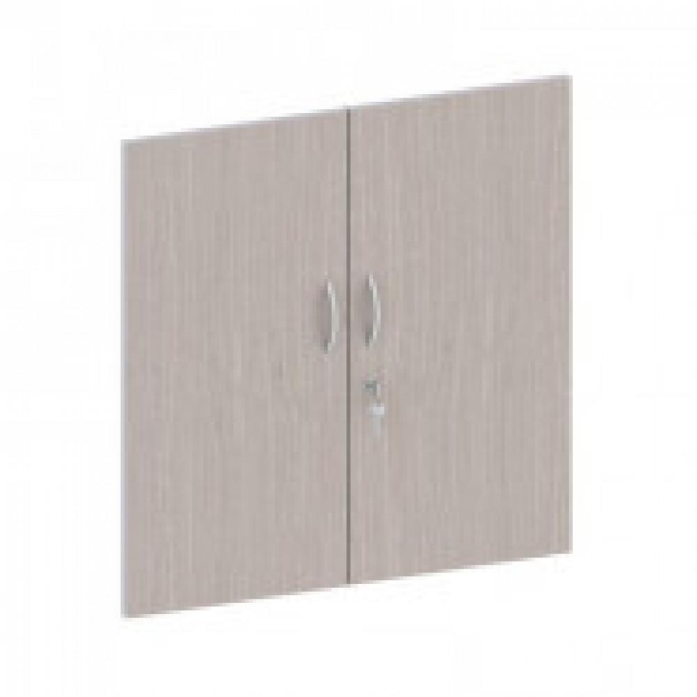 Мебель Easy St Двери низк. ЛДСП замок (2шт.) 906514 св.дуб/сер.(430)