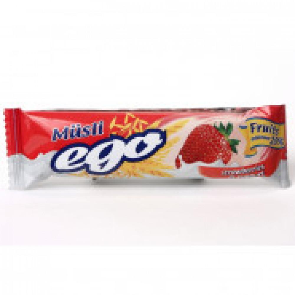 Батончик мюсли EGO клубника йогурт 35штx25г