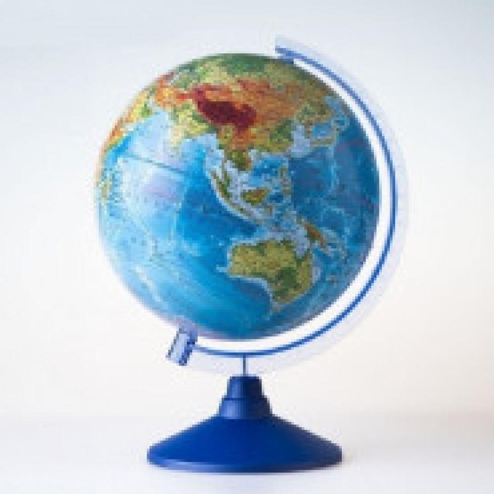 Глобус Земли физико-политический 250мм,с подсвет.от батареек,Ве012500257