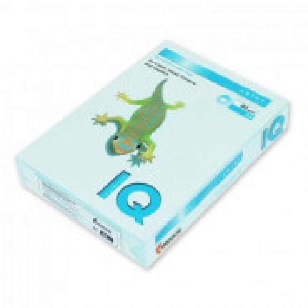 Бумага цветная IQ COLOR (А4,80г,BL29-светло-голубой) пачка 100л.