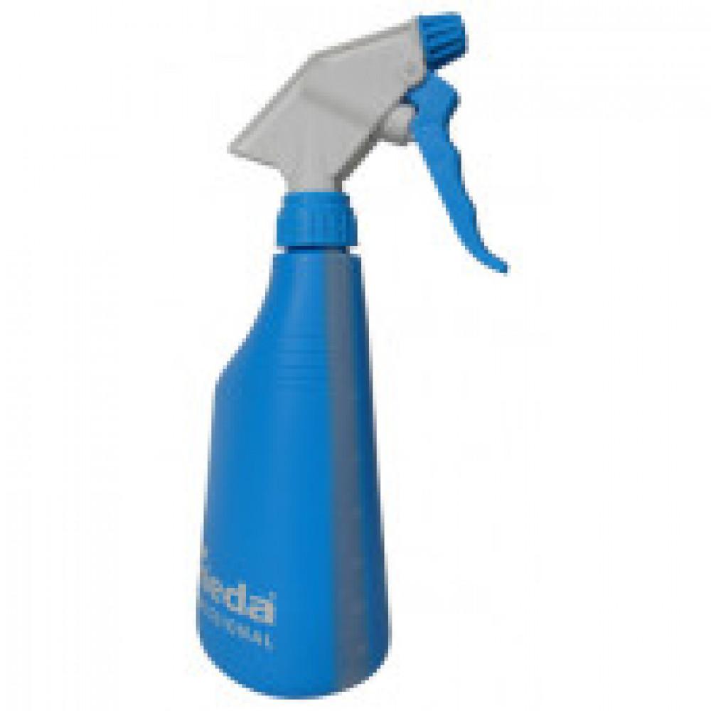 Флакон БЕЗ СРЕДСТВА спрей-бутылочка с мерн шкалой с распылит синяя158213
