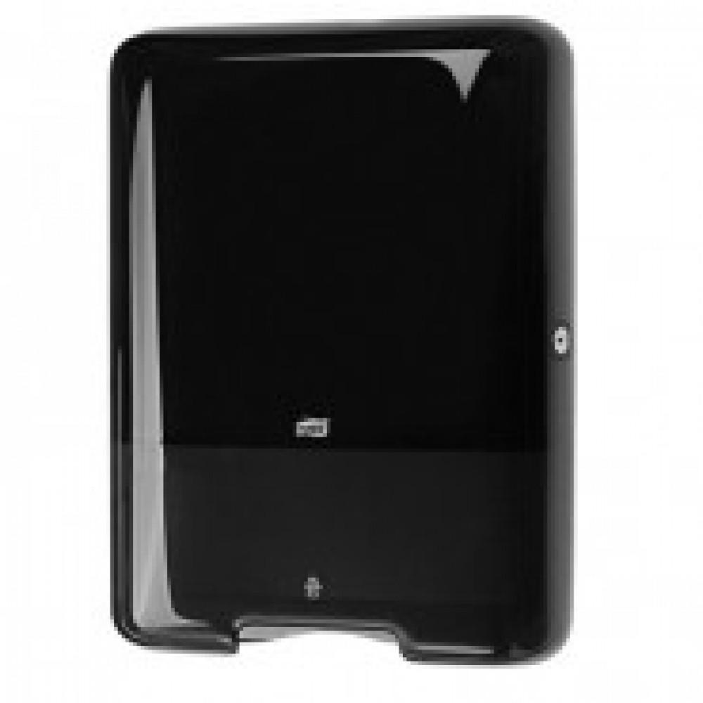 Диспенсер для листовых полотенец Tork Singlefold Н3 ZZ/С пластиковый черный (код производителя 553008)