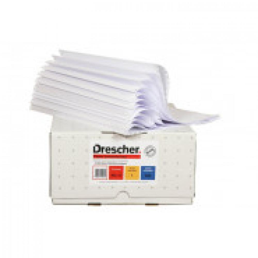 Самокоп.непрер.компьютерная бумага 240х12, 3-сл.Drescher,белая,600экз/уп