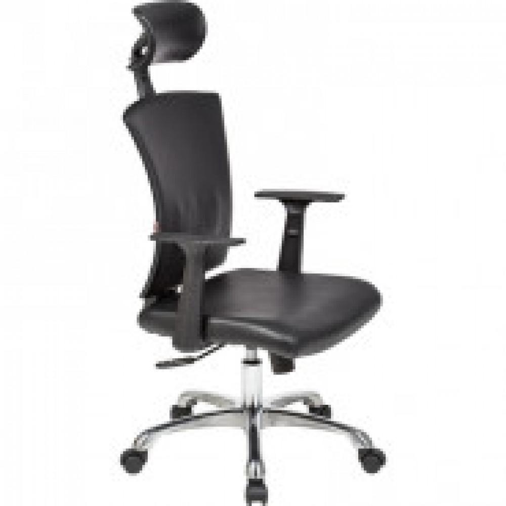 Кресло BN_Cm_EChair-560 TPU кожзам черный, хром