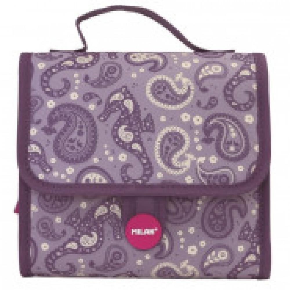 Портфель Drops детский с 2-мя пеналами с наполнением, фиолетовый, 08831DP