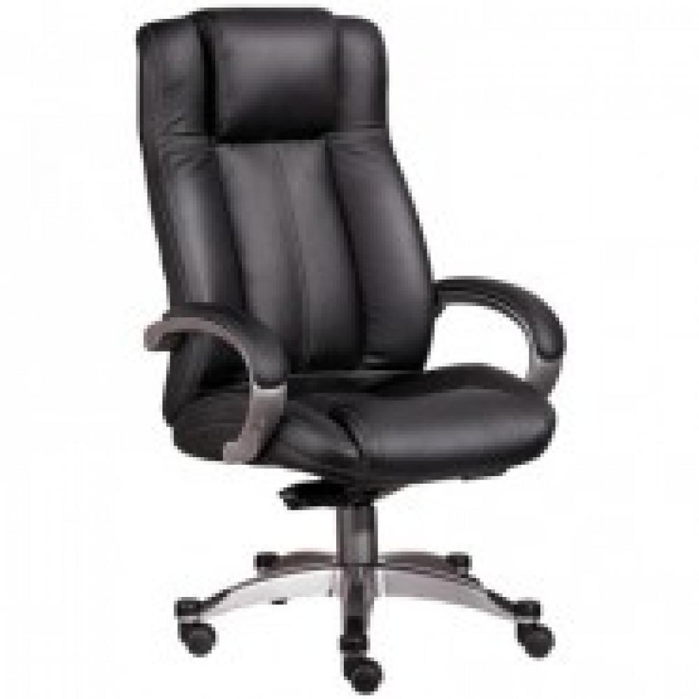 Кресло BN_Dp_Руководителя EChair-604 ML кожа черная, пластик