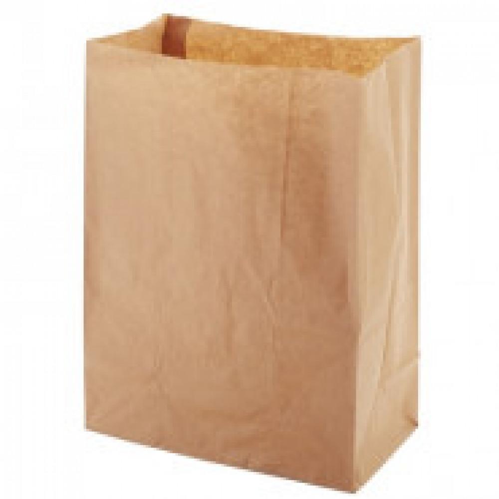 Пакет бумажный крафт бурый 220x120x290мм, (ECO BAG) 1000шт/уп