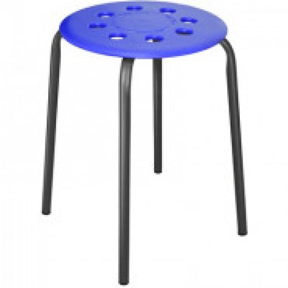 Табурет ET_табурет ТП01 сиденье пластик синий, каркас черный