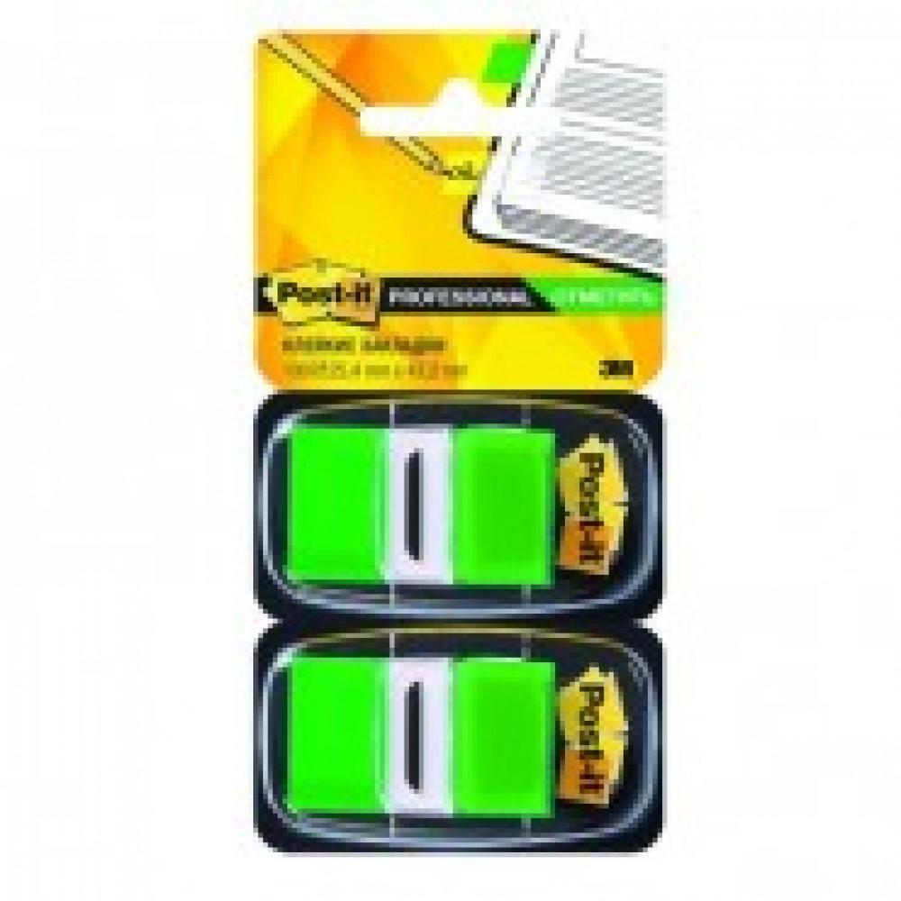 Клейкие закладки пласт. 1цв.по 100л. 25мм зелен Post-it ?680-GN2