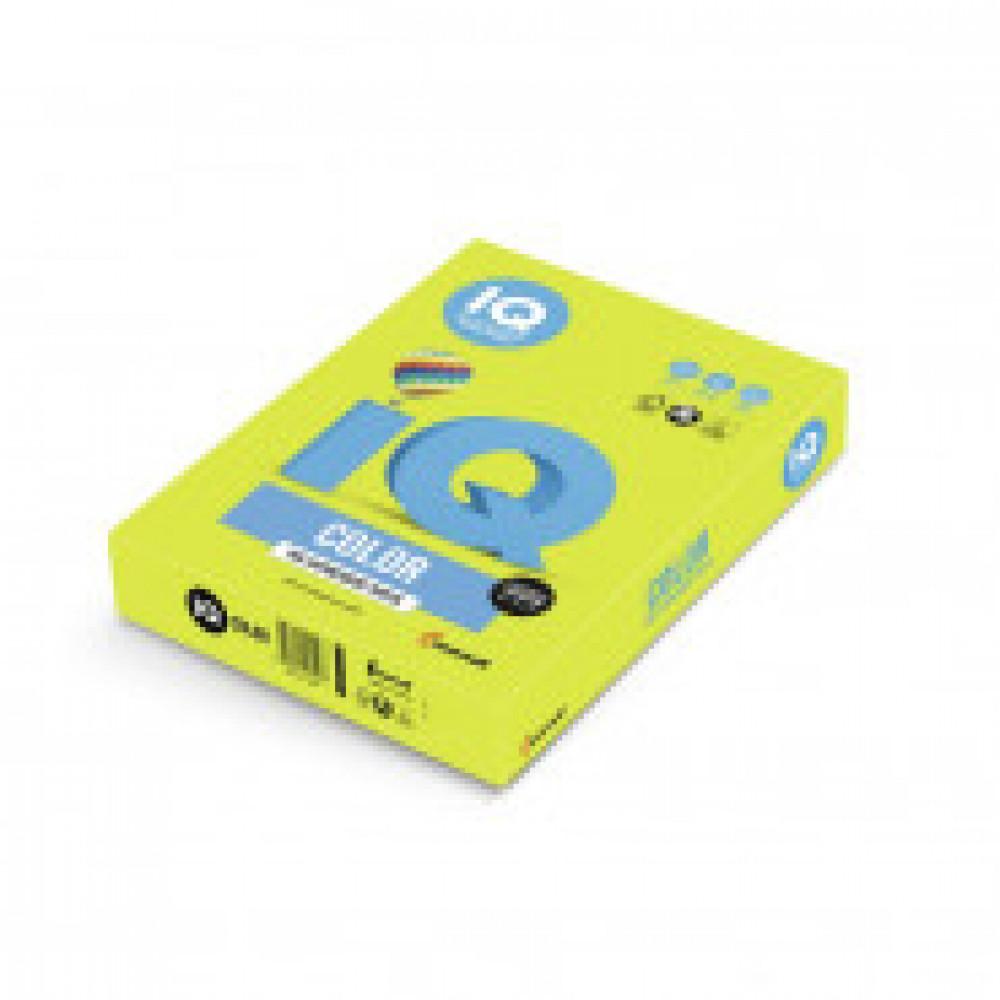 Бумага цветная IQ COLOR (А3,80г,NEOGN-зеленый неон) пачка 500л.