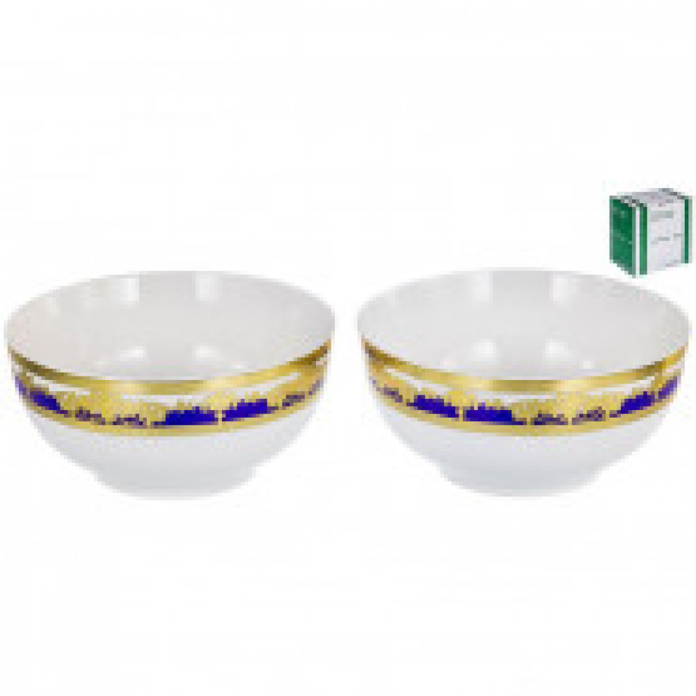 Набор салатников ЭСТЕЛЛА 2шт 375мл синий/золотом арт.123-16035
