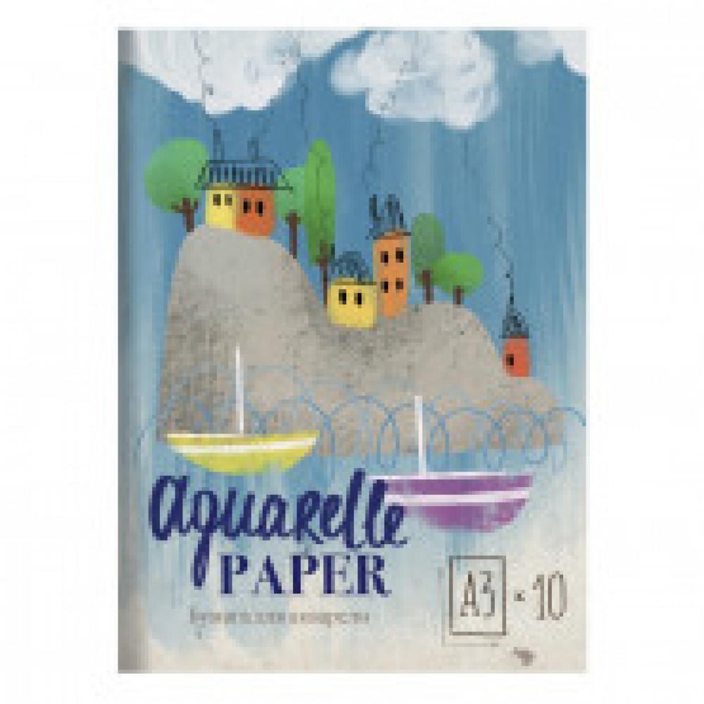 Папка для рисования акварелью А3,10л,180гр/м2 Kroyter Пейзаж 08245