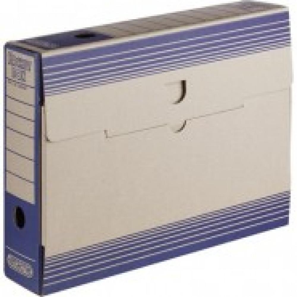 Короб архивный Attache картон синий 256х75х322мм