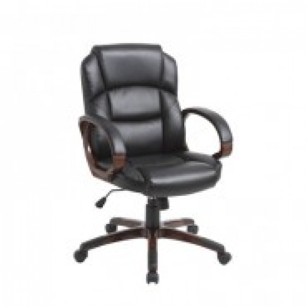 Кресло BN_Dt_Руковод. EChair-634 TR рец.кожа черная, пластик