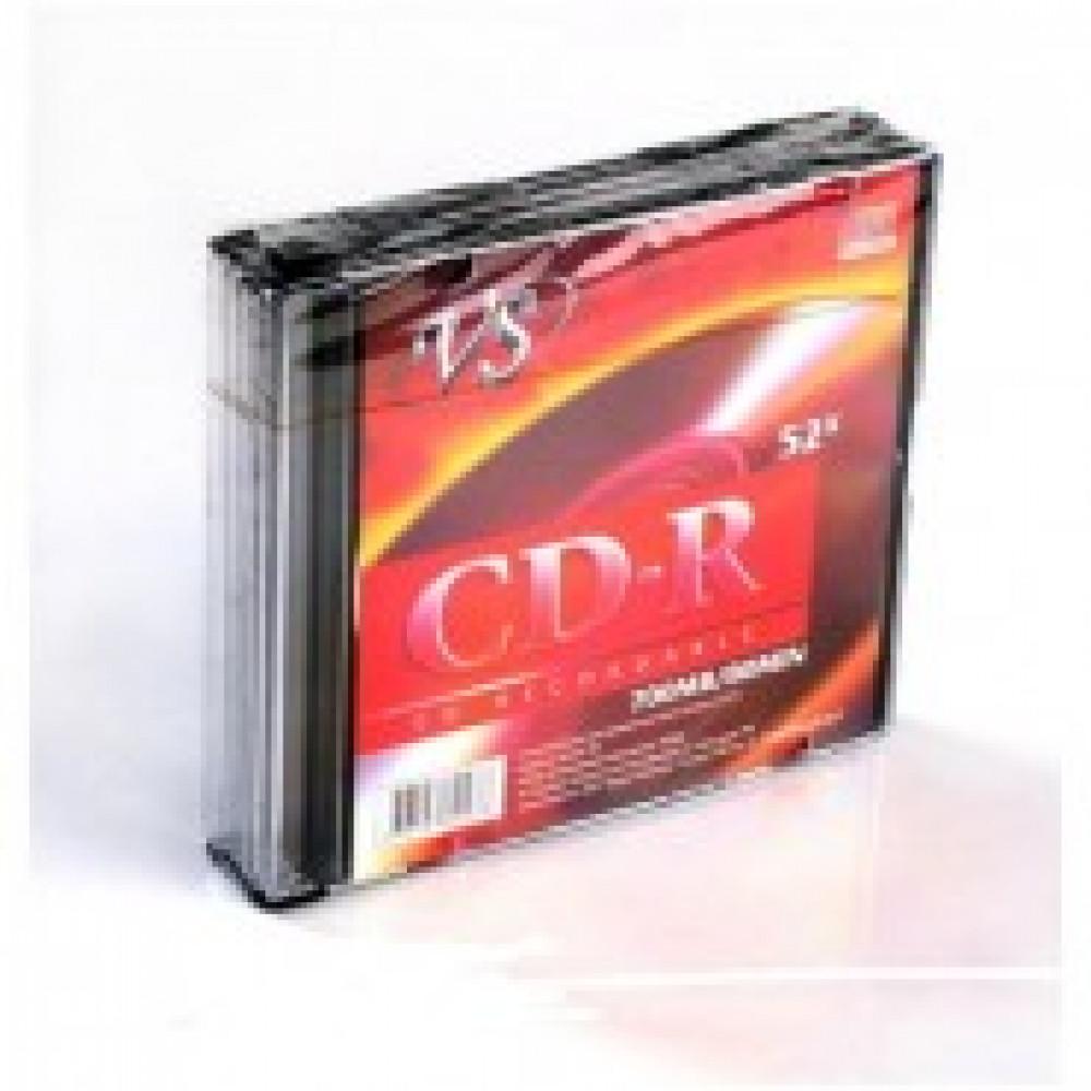 Диск CD-R VS 0,7 GB 52x (5 штук в упаковке)
