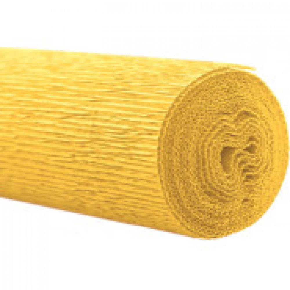 Бумага для творчества крепир.флорист. 50x250см,128г/м2,светло-желтая,170566