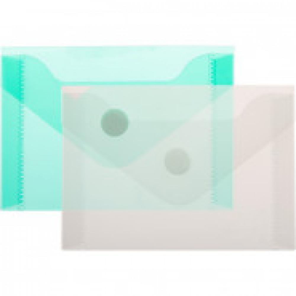 Папка -конверт на кнопке А7 105x74мм180 мкм ассорти,Attache  20шт.уп.