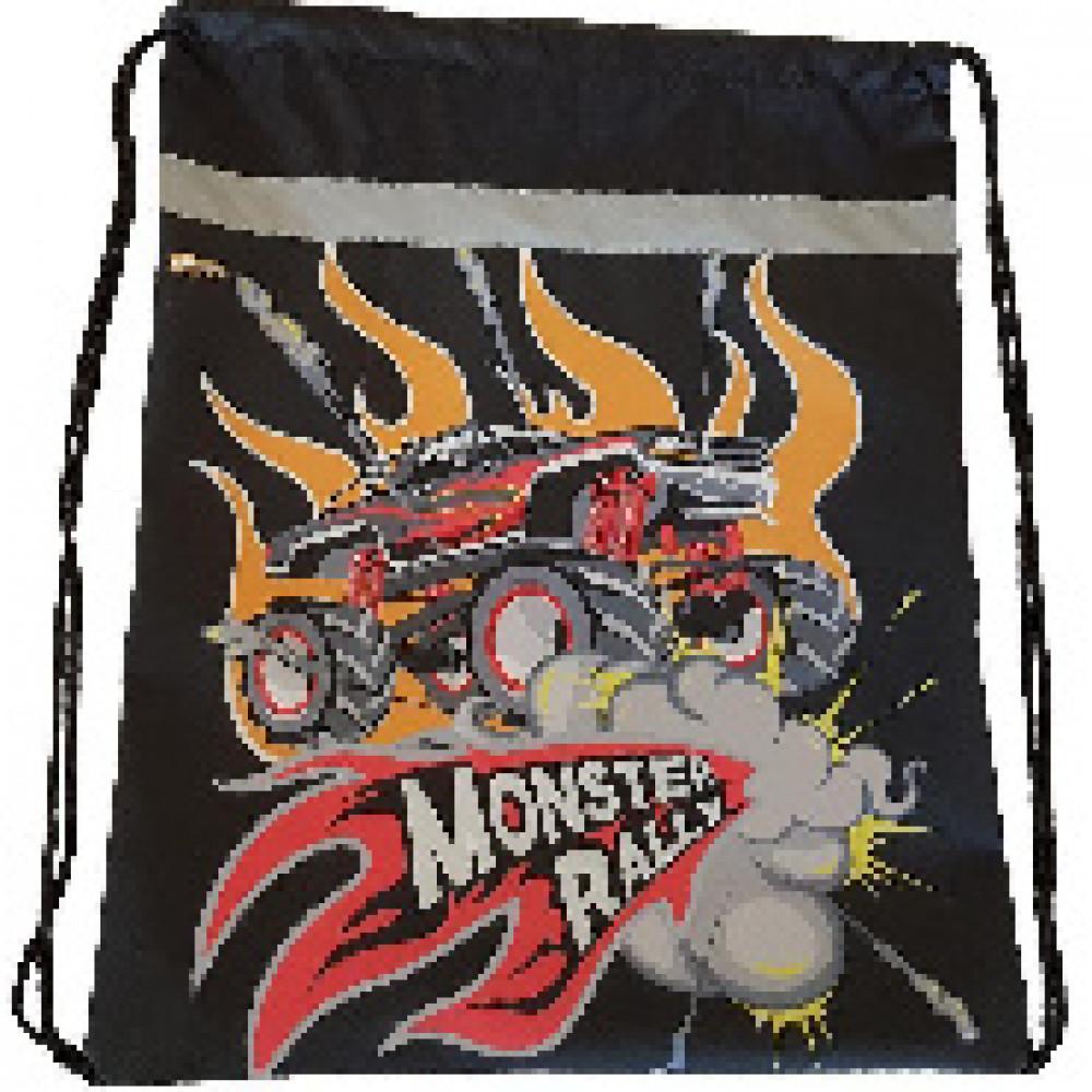 Мешок для обуви №1 School Monster Rally 350x420мм со светоотражат МСО-5с