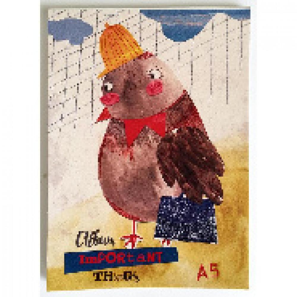 Альбом для рисования Kroyter Деловой воробей А5 30 листов на склейке