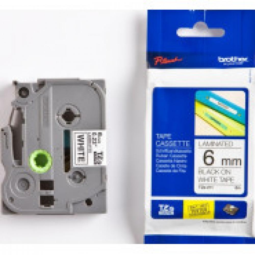 Картридж к этикет-принтеру Brother TZe-211 6ммх8м чер/бел лам. для P-Touch
