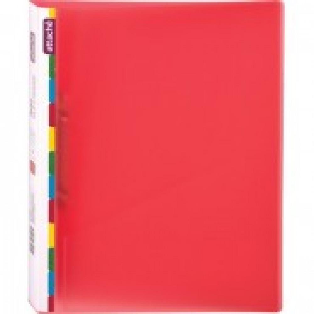 Папка на 2-х кольцах Attache Diagonal 25 мм красная до 150 листов (пластик 0.5 мм)