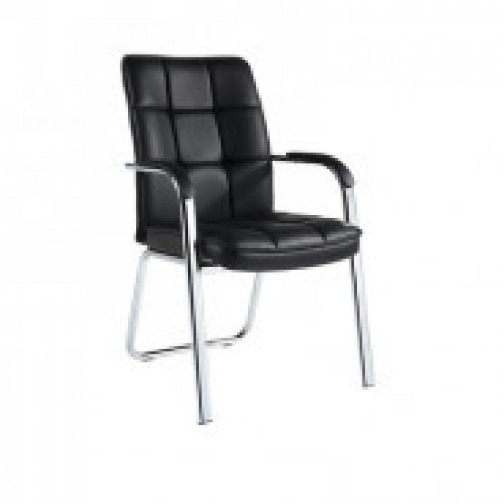Кресло BN_TQ_конференц Echair-810 VPU кожзам черный, хром