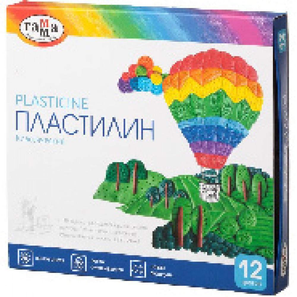 Пластилин Гамма КЛАССИЧЕСКИЙ 12 цв, со стеком, к/к 240 г, 281033