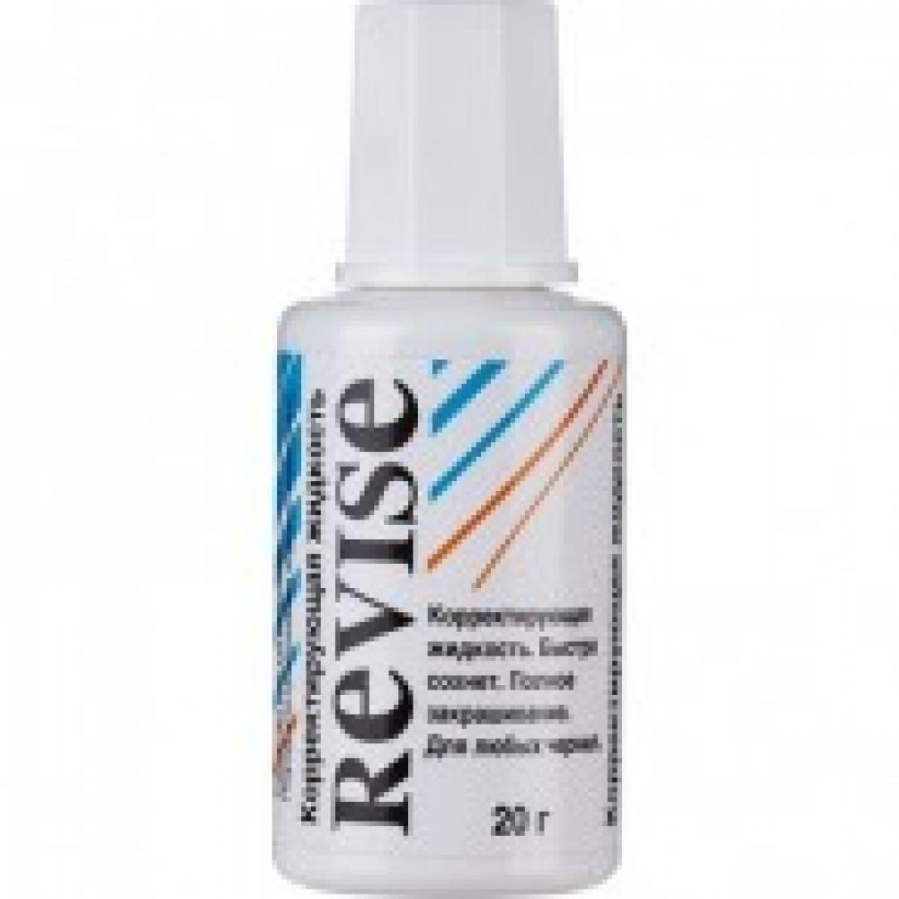 Корректирующая жидкость ReVise 20г на быстросохннущей основе, кисточка
