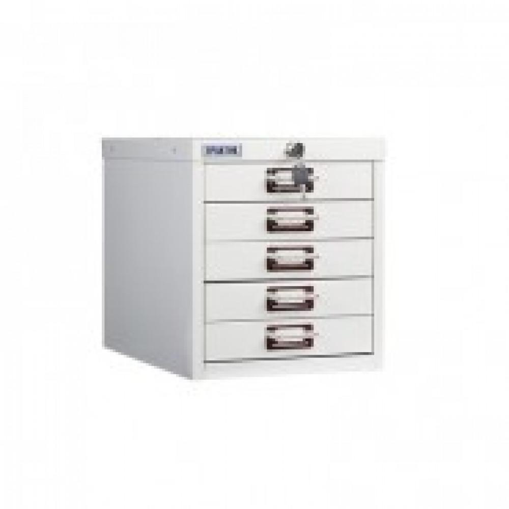 Метал.Мебель ПРАКТИК Шкаф 5 ящ. MDC-A4/315/5 (R7038) серый