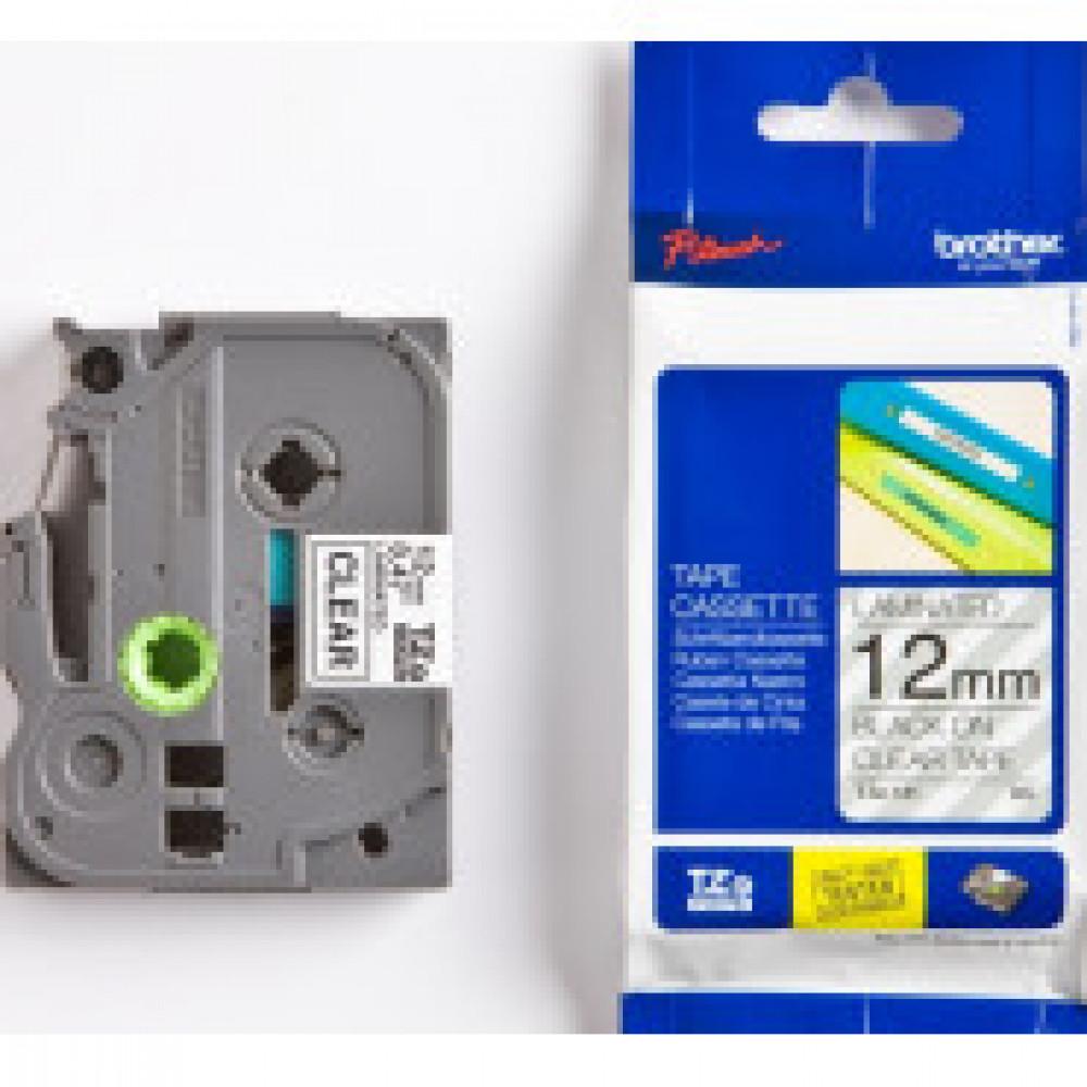 Картридж к этикет-принтеру Brother TZe-131 12ммх8м чер/прозр лам P-Touch