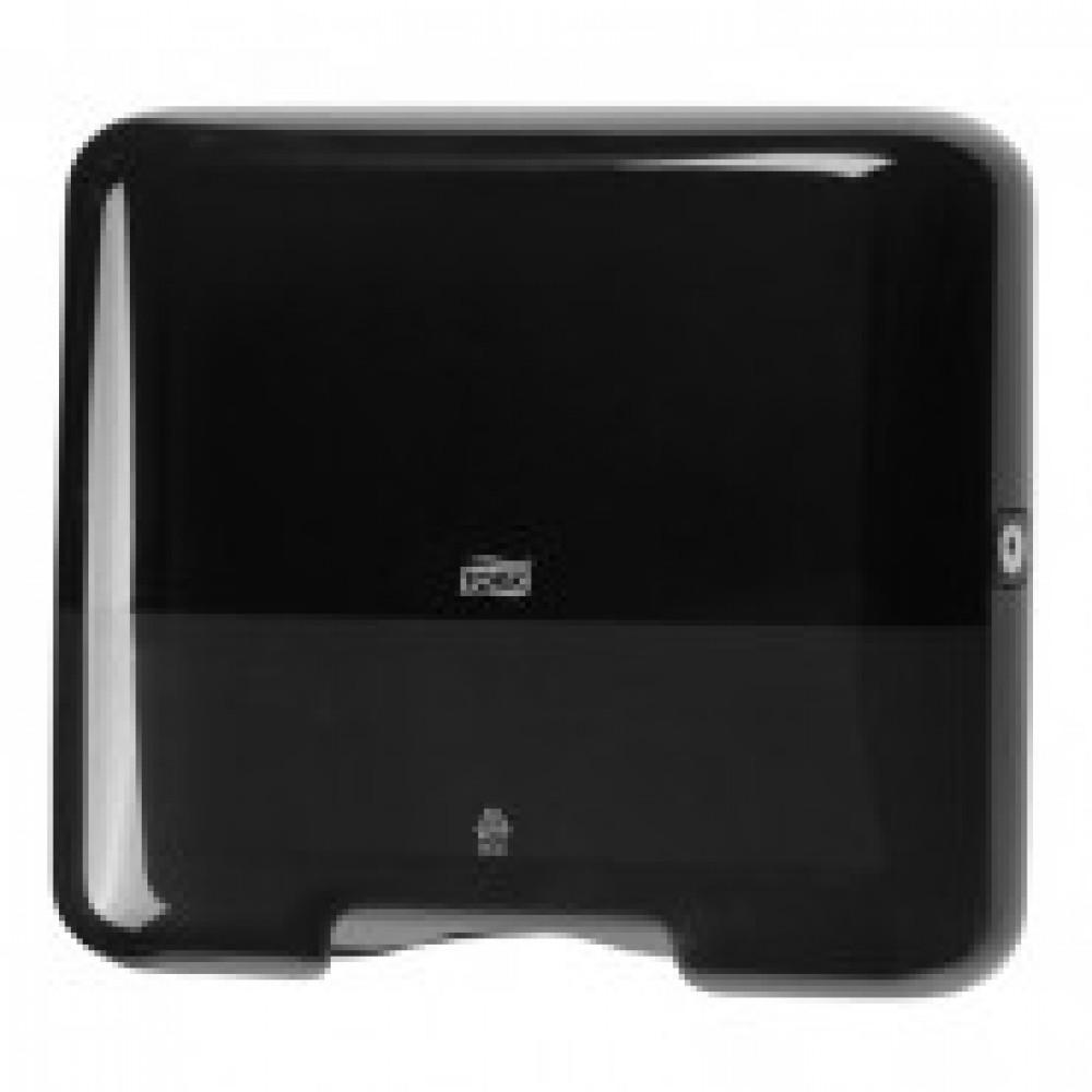 Диспенсер для листовых полотенец Tork Mini Singlefold H3 ZZ/С пластиковый черный (код производителя 553108)