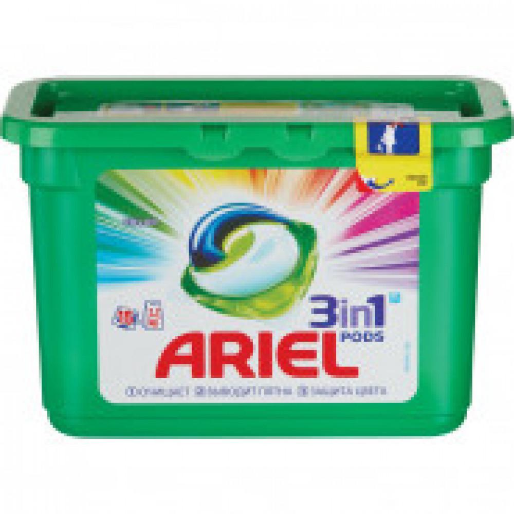 Капсулы для стирки Ariel Color&Sty 3в1 автомат д/цвет белья15кап/уп