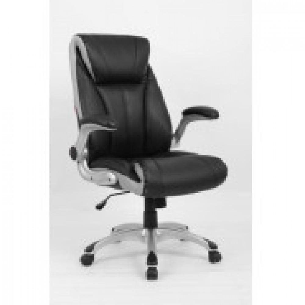Кресло BN_Hg_EChair-652 TPU кожзам черный, пластик серый